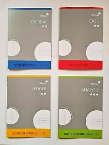 A4 ACCOUNTS BOOK KEEPING Journal Cash Ledger Analysis Accounting Books