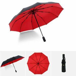 Reinforced Umbrella Three Folding Male Female Men Women Full Automatic Parasol