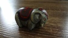 """Small Mexico Elephant Carving Signed by Artist! Collectible Figurine Approx 2-3"""""""