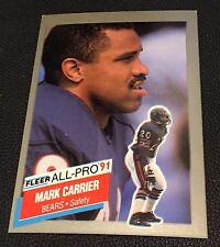 MARK CARRIER 1991 Fleer ERROR Rare ALL-PRO with ANTHONY MUNOZ On BACK Amazing!