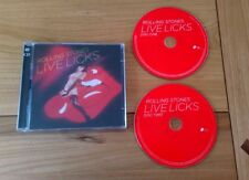 The Rolling Stones Live Licks Euro 2CD Album Classic Blues Rock