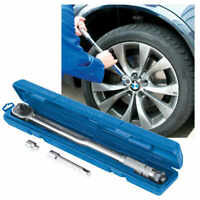 "Silverline 1/2"" Drive Torque Wrench with 3/8"" Socket Adaptor Adjustable Ratchet"