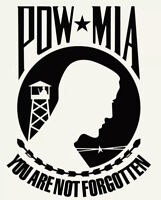 Black POW MIA Military Decal Sticker Graphic for Car Truck SUV Window 5yr