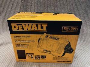 DEWALT 12-20v LI-ION COMPACT TASK LIGHT 2000 LUMEN MODEL: DCL077B NEW Ships Free