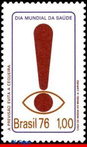 1428 BRAZIL 1976 WORLD HEALTH DAY, FORESIGHT OF BLINDNESS, HEALTH, MI# 1524, MNH