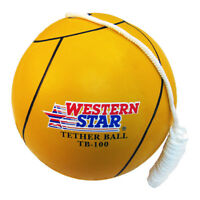 Bright Yellow Tether ball Deluxe Premium Quality with Regulation Rope attached