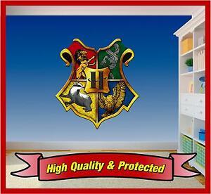 Hogwarts Shield - Harry Potter Badge Wall Printed Vinyl Sticker Decal Bedroom