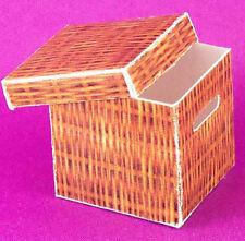 Dollhouse Miniature 1:12 Scale Wicker Look File Box