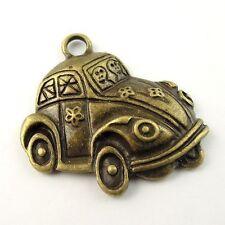 30045 Vintage style bronze tone alloy bubble car pendants charms 10pcs