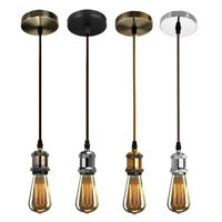 E27 Ceiling Pendant Lamp Bulb Holder Socket Base Light Hanging Fitting 4 Colors