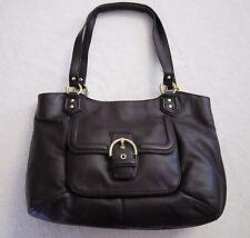 Coach Campbell Leather Belle Carryall Purse Handbag Brass/Mahogany F24961 NWT