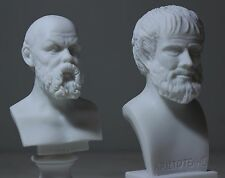 "Aristotle Socrates Greek Philosopher Bust Statue Alabaster Athens Art 6.3"" New"