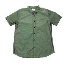 EUC Levis Olive Green Junior Mens Short Sleeve Shirt Large