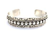 Native American Sterling Silver Zuni Handmade Silver Cuff Bracelets