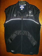 Reebook NFL Equipment Oakland Raiders Football On Field Full Zip Vest Jacket