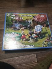 "White Mountain 1000 Piece Puzzle ""Grandpa Watches the Kids"" Fun puzzle!!"