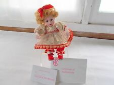 Marie Osmond Candi Cane Toddler Series Tiny Tots Doll COA + Doll Necklace
