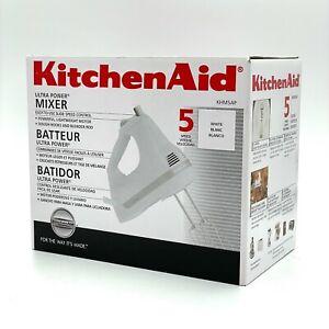 KITCHEN AID Ultra Power Mixer KHM5APWH White OPEN BOX NEW
