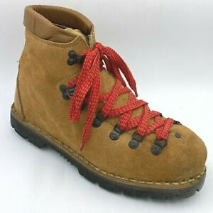 Vintage Hiking Boots Mens size 10M made in Italy Suede & Leather Vibram Sole D2