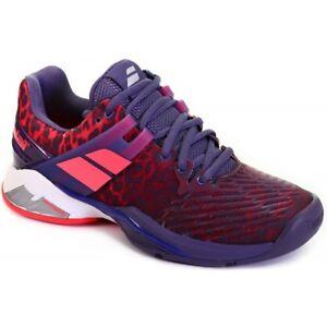 Babolat Women's Tennis Shoes PROPULSE FURY All Court Leopard Racquet 31F17477