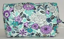 Vera Bradley Large Cosmetic Penelope's Garden Case Travel Bag Quilted Cotton