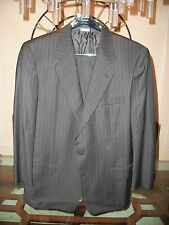 used BRIONI grey pinstriped suit size EU 52R US 42R 34 x 28 Italy $5495