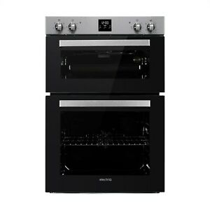 electriQ Electric Built In Double Oven - Stainless Steel