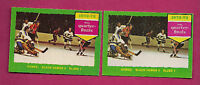 1973-74 TOPPS/OPC  # 193 HAWKS / BLUES  QUARTER  FINALS  CARD