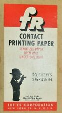 """Rare Fr Corp Contact Printing darkroom paper 20 Sheets 2 3/4 x 4 1/2"""" Unopened"""