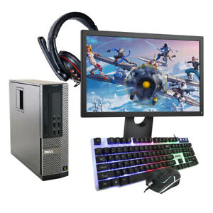 Fast Gaming PC DELL HP Bundle Intel Quad i3 8GB 500GB Windows 10 2GB GT1030