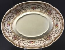 Vintage Wedgwood TRIANON Underplate~Large Serving Dish~flowers~brown~pink~Englan