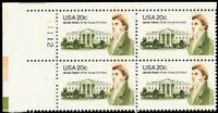 1936, MNH 20¢ Brown Color Shift ERROR Plate Block of Four Stamps - Stuart Katz