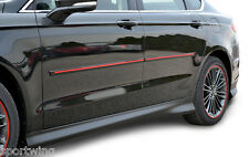 For: HYUNDAI SANTA FE; PAINTED Body Side Moldings Trim  W/Red Insert 2013-2018
