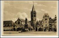 Eisenach Thüringen DDR Ansichtskarte 1952 gelaufen Partie am Platz der Einheit