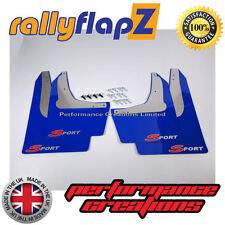 Rally Mudflaps Honda Civic Sport (01-07)Mud Flaps Blue Logo Silver/Red 4mm PVC