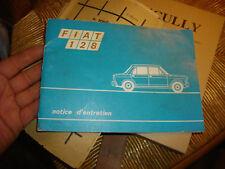Carnet d'entretien FIAT 128  7e edition
