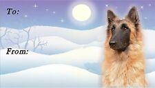 Belgian Shepherd Tervueren Christmas Labels - Starprint