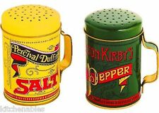 LARGE BBQ GRILL STOVE TOP SALT & PEPPER SHAKERS SET W/HANDLES RETRO VINTAGE 4""