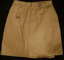 Girl SZ Jr 11 School Uniform Skirt Khaki Tan GUC gsu014
