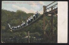 Postcard LASALLE COUNTY Illinois/IL  Deer Park Suspension Bridge view