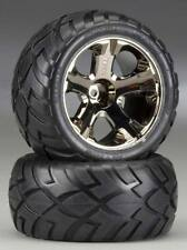 Traxxas Rustler VXL / XL-5 Front Anaconda Tires On All-Star Chrome Wheels 3776A