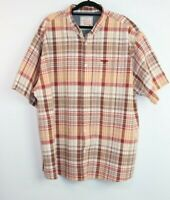 Rivers Men's Button Down Short Sleeve Multi Coloured Check Shirt Size 3XL