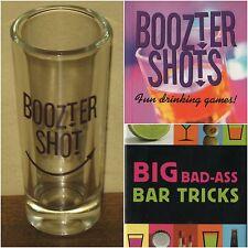 BAR SET Big Bad Ass Tricks & Boozter Shots Miniature Books & Shot Glass Alcohol