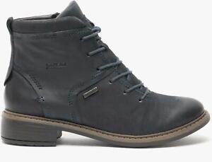 Josef Seibel SELENA 50 Ladies Womens Laces Waterproof Leather Ankle Boots Ocean