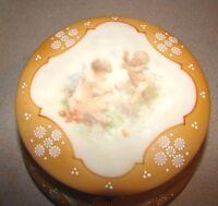 C.F. Monroe Nakara Wavecrest Orange Dresser Box w/ Cherubs Angels