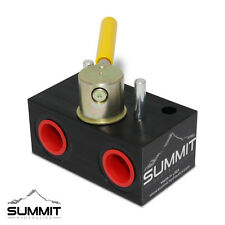 Válvula Hidráulica de desviador de selector giratorio, 3 Fuentes, 20 GPM, 5000 PSI, #8 puertos SAE