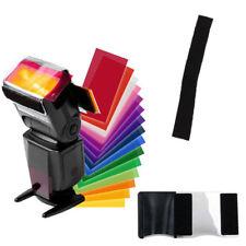 12 PCS Flash Color Card Diffuser Soft Box Lighting Gel Pop Up Filter for Camera