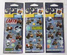 3X RARE WALL E EVE MO M O STICKER SHEETS 32 STICKERS DISNEY PIXAR BRAND NEW !