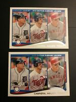 2014 Topps # 103 MIKE TROUT-CABRERA-MAUER League Leaders AVG Lot of 2 Cards !