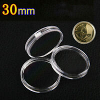 10Pcs 30mm Applied Clear Round Cases Coin Storage Boxes Capsules Holder Hot New
